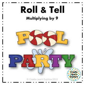 Roll and Tell Multiplying by 9 Game