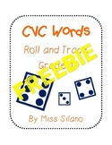 Roll and Trace CVC Words FREEBIE