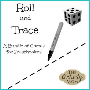 Roll and Trace Preschool Games Pack
