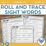Roll and Trace Sight Word Practice EDITABLE