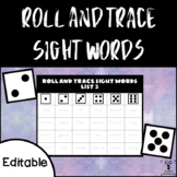 Roll and Trace Sight Words