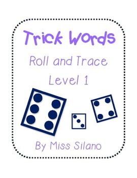Roll and Trace Trick Words Level 1