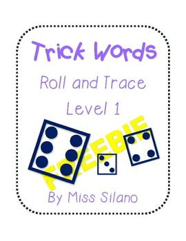 Roll and Trace Trick Words Level 1 FREEBIE