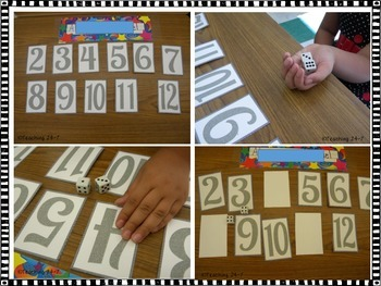 Roll and Turn Addition and Subtraction Game