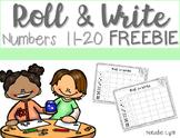 Roll and Write 11-20 Freebie