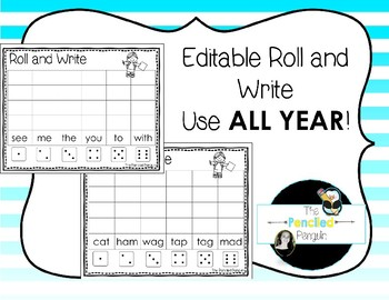 Roll and Write Editable *use all year! FREEBIE