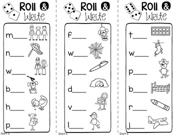 Roll and Write {A Phonics Literacy Centre}