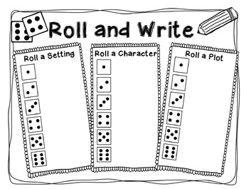FREEBIE: Roll and Write - A Writing Prompt Literacy Center