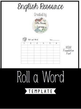 Roll and Write Activity