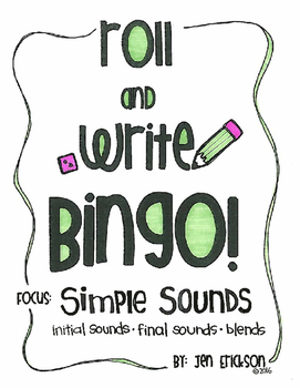 Roll and Write Bingo: Simple Sounds