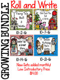 Writing Centers--Roll and Write Growing Bundle