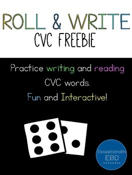 Roll and Write CVC Freebie