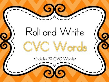 Roll and Write CVC Words