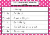 Roll and Read Camera Words/ Sight Words Activity