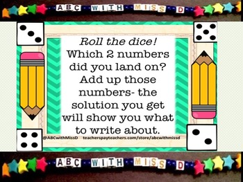 Roll and Write- Creative Writing Prompts With a Math Twist!