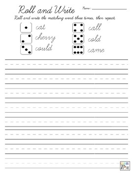 Roll and Write - Cursive