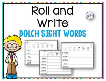 Roll and Write: Dolch Sight Words
