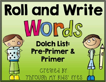 Roll and Write Dolch Words