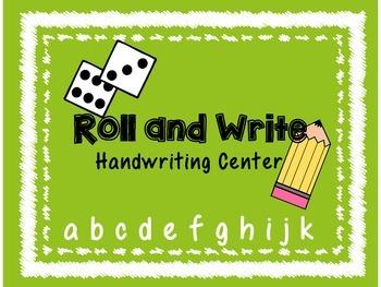 *No Prep* Roll and Write ELA Center- Handwriting Practice