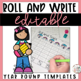 Roll and Write   Editable Spelling Worksheets