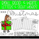 Roll and Write: Editable Worksheets  | Christmas