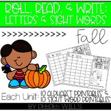 Roll and Write: Editable Worksheets  | Fall