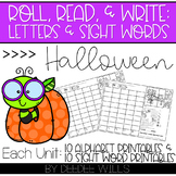 Roll and Write: Editable Worksheets | Halloween