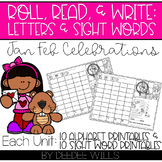 Roll and Write: Editable Worksheets | January & February C
