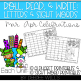 Roll and Write: Editable Worksheets | March & April Celebrations