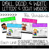 Roll and Write: Editable Worksheets Bundle | Seasons