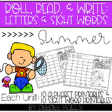 Roll and Write: Editable Worksheets | Summer
