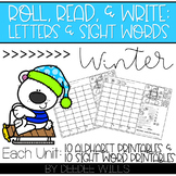 Roll and Write: Editable Worksheets  | Winter