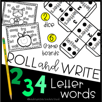 Roll and Write - English Edition! 2,3,4 Letter Sight Words