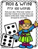 Roll and Write First Fry 100 Words