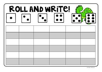 Roll and Write Freebie!