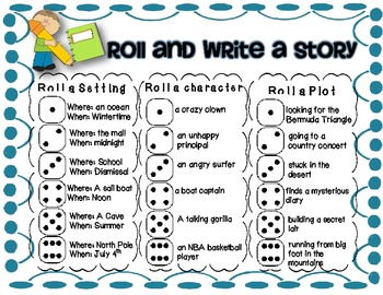 Roll and Write Freebie