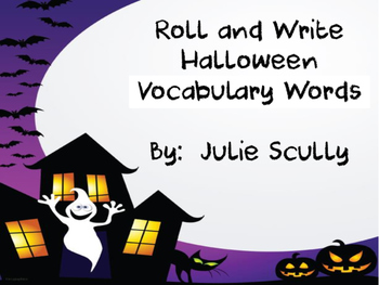 Roll and Write Halloween Words