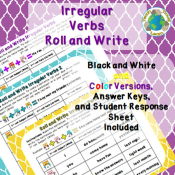 Roll and Write Irregular Verbs Activity