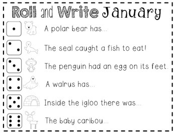 Roll and Write {January}