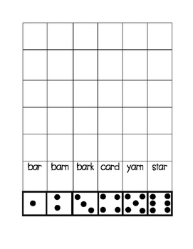 Roll and Write Journeys first grade words unit 5