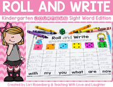 Roll and Write {For Use With Kindergarten Journeys} Distan