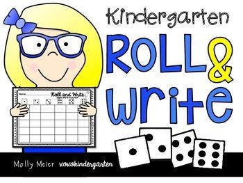 Roll and Write - Kindergarten Sight Word Activity