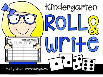 Roll and Write - Kindergarten Sight Word Activity