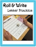 Roll and Write Letter Writing Practice