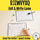 Roll and Write Letters BJZWVYXQ