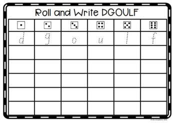 Roll and Write Letters DGOULF