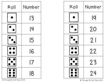 Roll and Write: Letters and Numbers