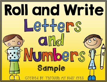 Roll and Write: Letters and Numbers - Sample