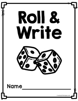 Math Facts | Roll and Write | Math Fact Fluency Practice