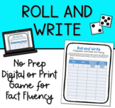 Roll and Write: Multiplication and Division Number Sentences